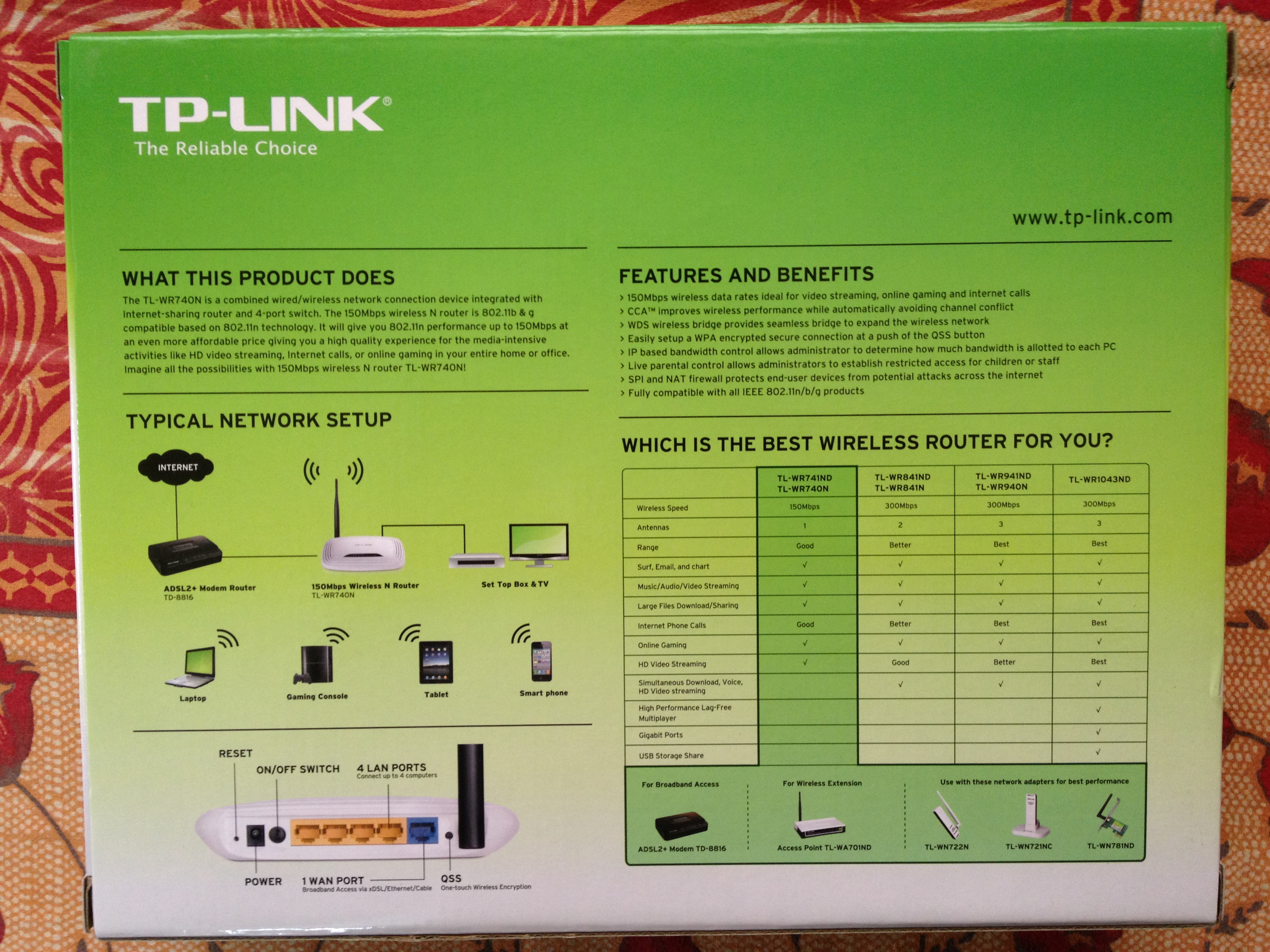 TP-LINK TL-WR740N Review-Images,What's Inside Box & Where to