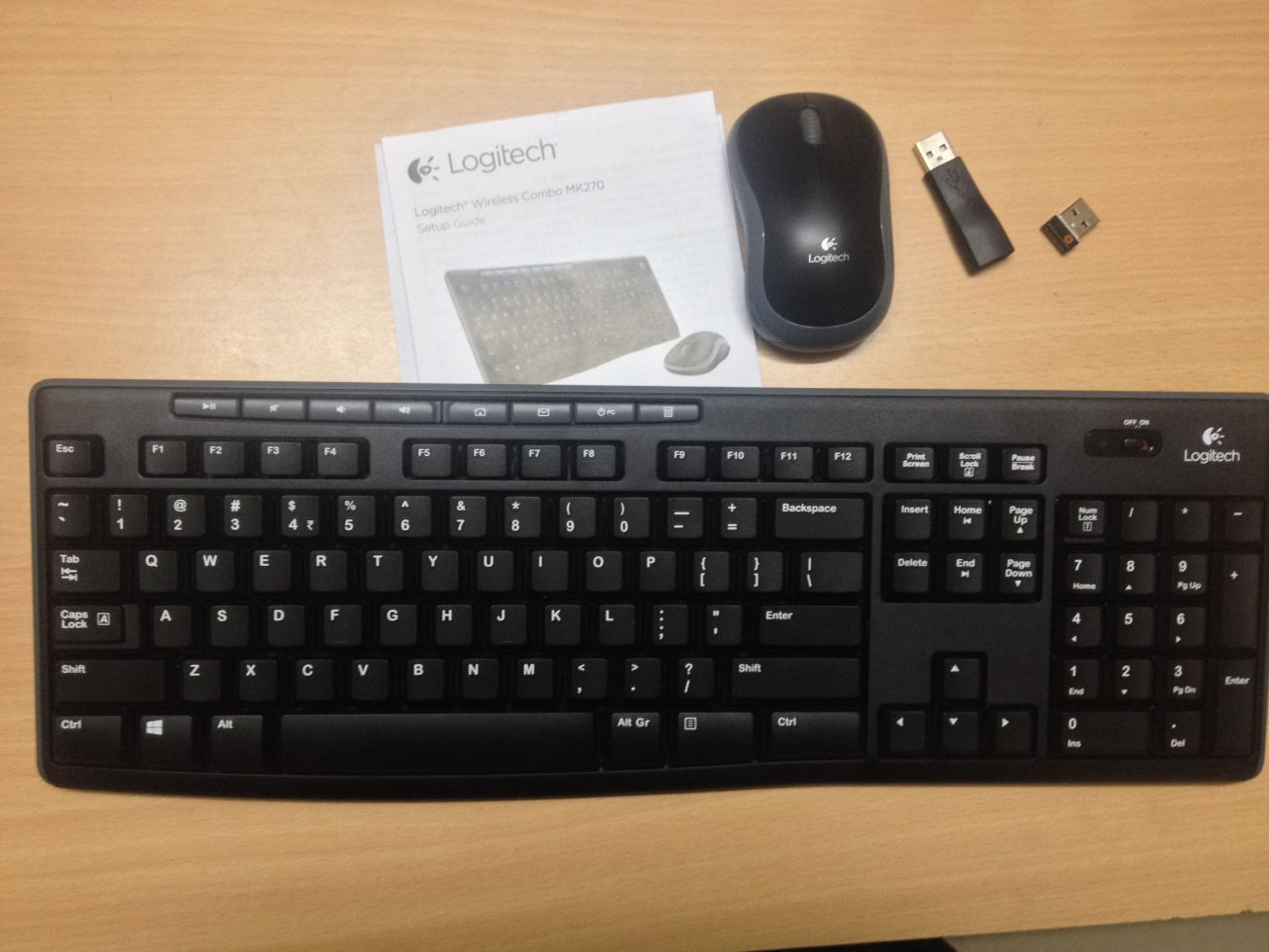 Logitech MK 270 Wireless Combo (Mouse + Keyboard) Review with Images 856d4000a8e09