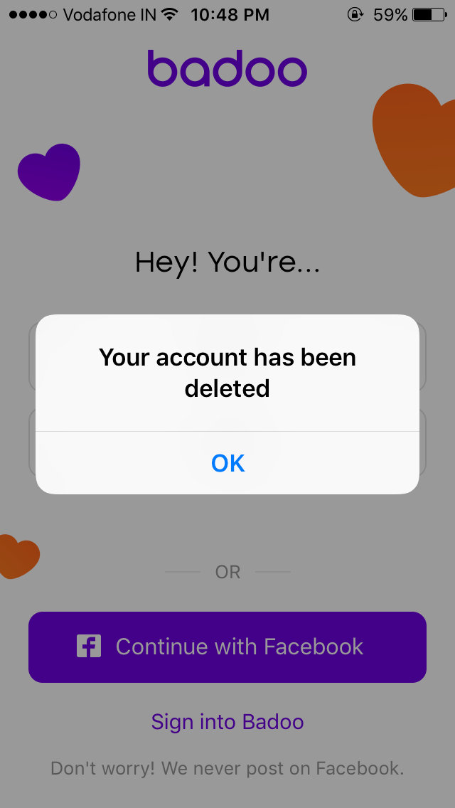 Badoo account login