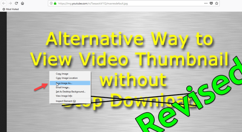 right click and save youtube thumbnail