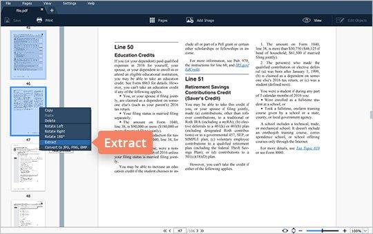 Split PDF File in View Mode